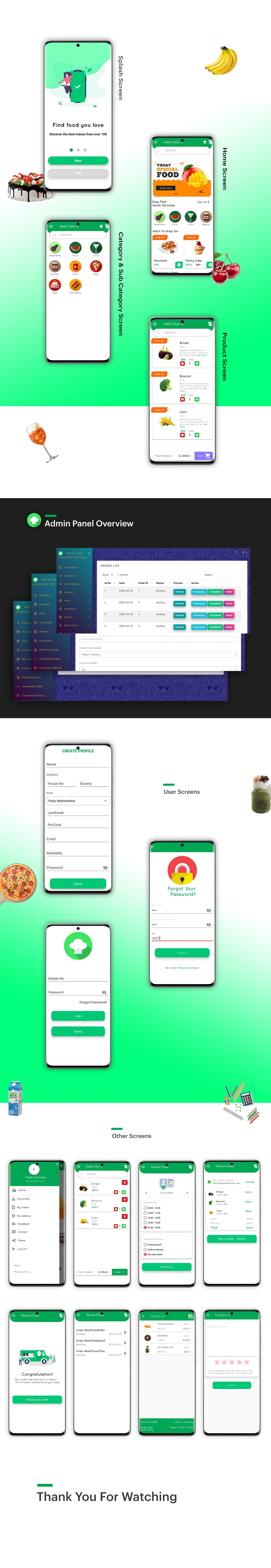 Fresh Fast Grocery Delivery Android App with Interactive Admin Panel v1.2 - 2